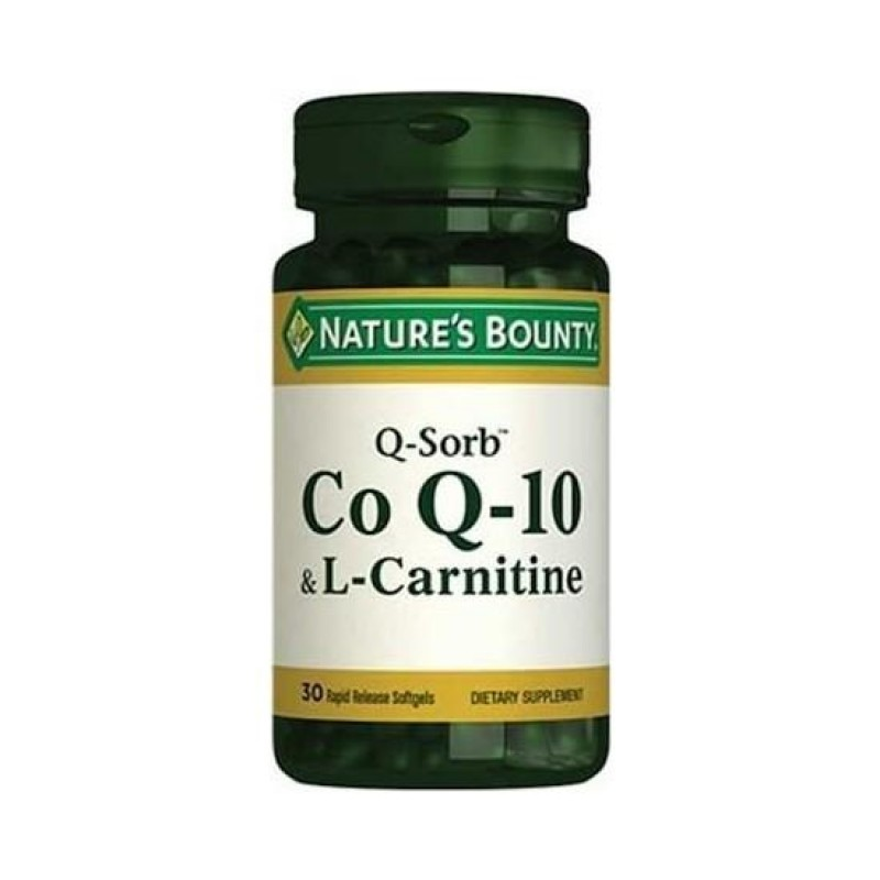 Nature's Bounty CoQ-10 & L-Carnitine 30 Softgels