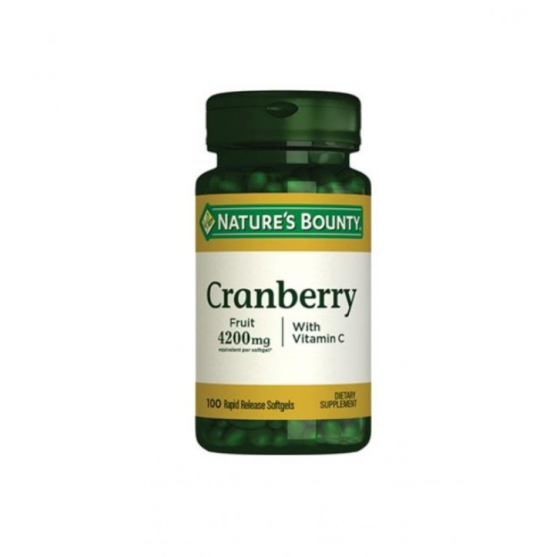 Nature's Bounty Cranberry Plus Vitamin C 100 Softgels