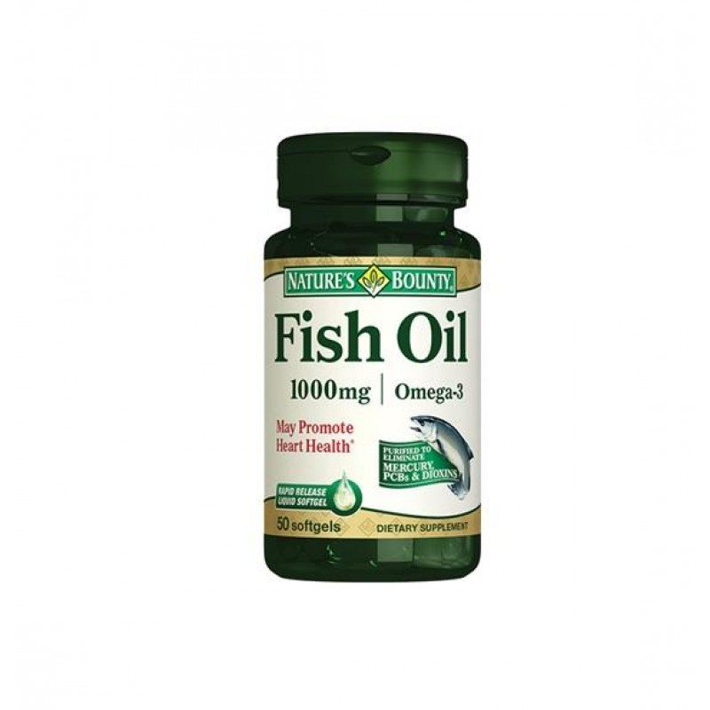Nature's Bounty Fish Oil 1000 mg 50 Softjels