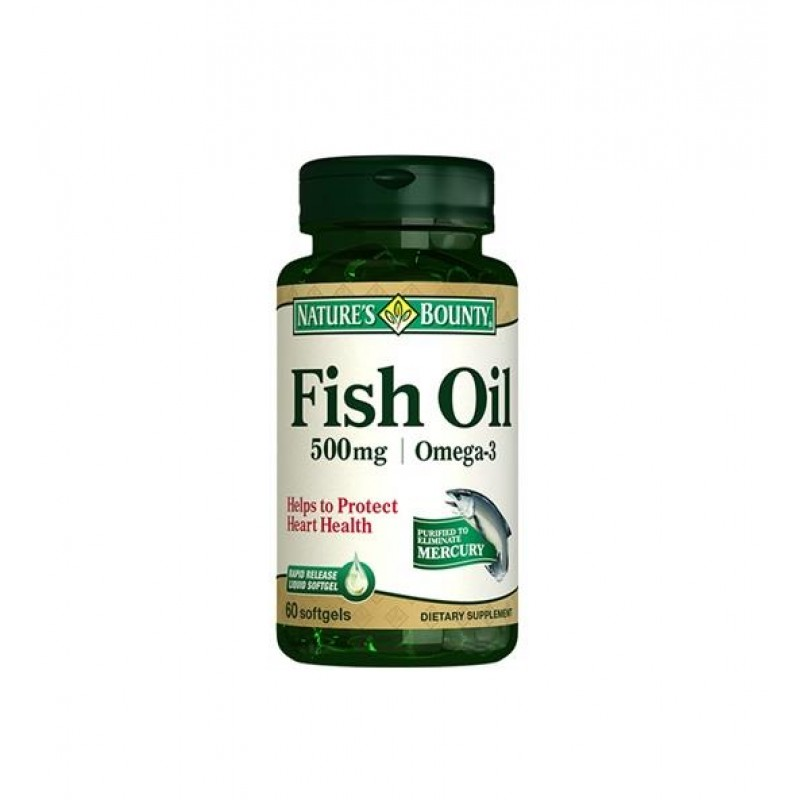 Nature's Bounty Fish Oil 500 mg 60 Softjels