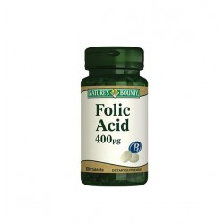 Nature's Bounty Folic Acid 400 mcg 100 Tablet