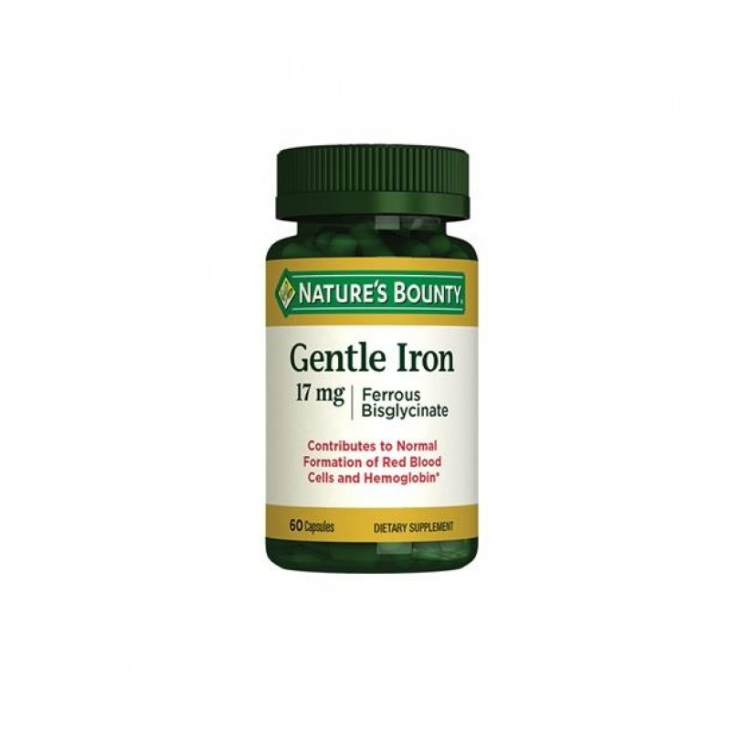 Nature's Bounty Gentle Iron 17 mg 60 Kapsül