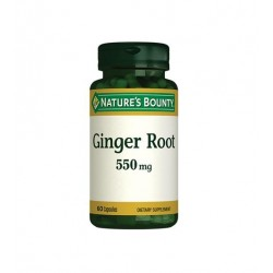 Nature's Bounty Ginger Root 550 mg 60 Kapsül