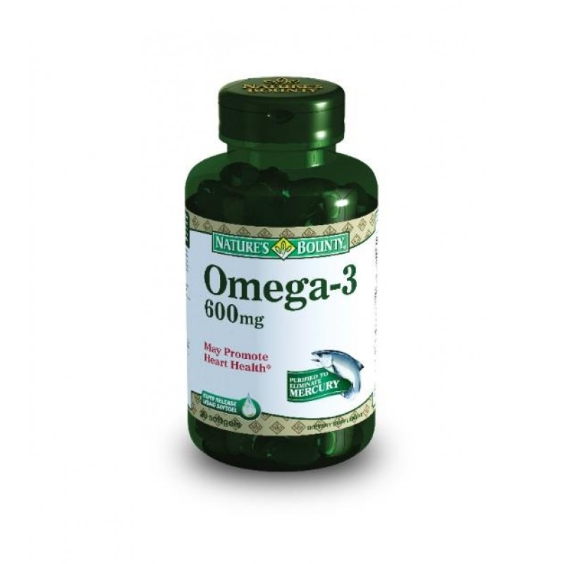Nature's Bounty Omega-3 600 mg 30 Softjel