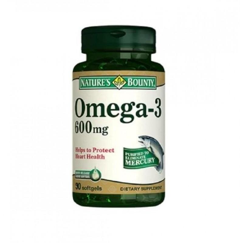 Nature's Bounty Omega-3 600 mg 90 Softjel