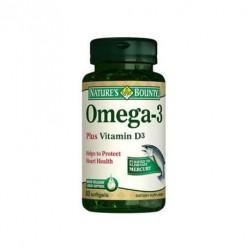 Nature's Bounty Omega-3 Plus Vitamin D3 60 Softjel