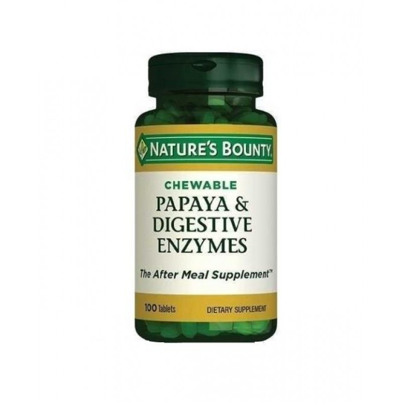 Nature's Bounty Papaya & Digestive Enzymes 100 Çiğneme Tablet