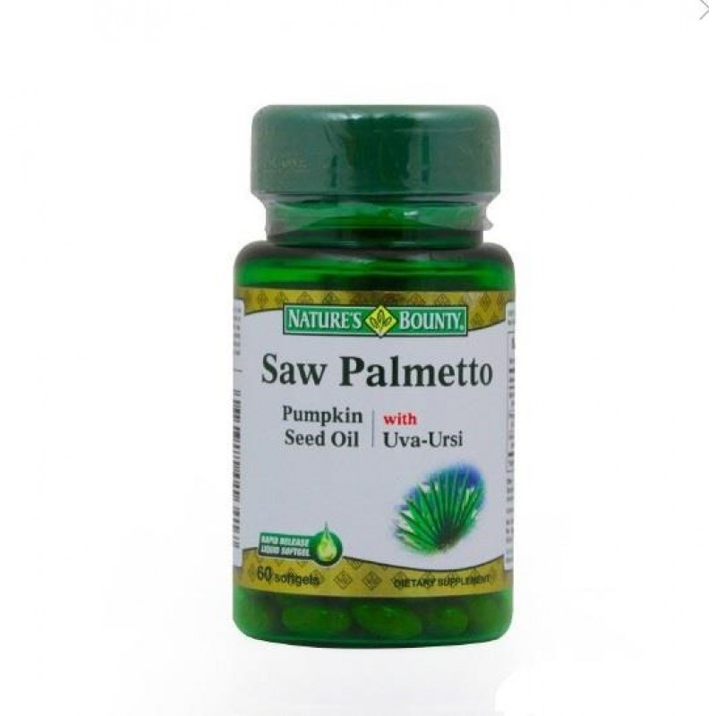 Nature's Bounty Saw Palmetto Pumpkin Seed Oil with Uva Ursi 60 Kapsül