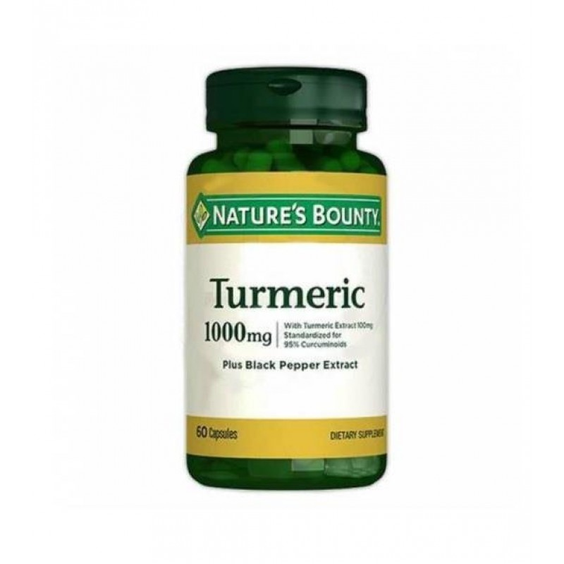 Nature's Bounty Turmeric Curcumin 1000 mg Plus Black Pepper 60 Kapsül