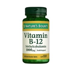Nature's Bounty Vitamin B12 Methycobalamin 1000 mcg 60 Dilaltı Tablet