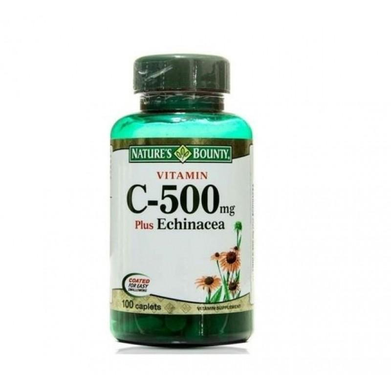 Nature's Bounty Vitamin C 500 mg plus Echinacea 100 Kaplet