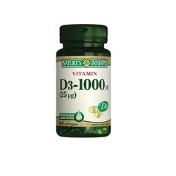 Nature's Bounty Vitamin D3 1000 IU 100 Softjel