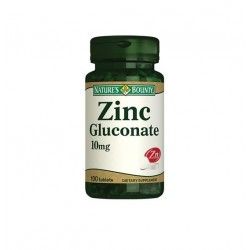Nature's Bounty Zinc Gluconate 10 mg 100 Tablet