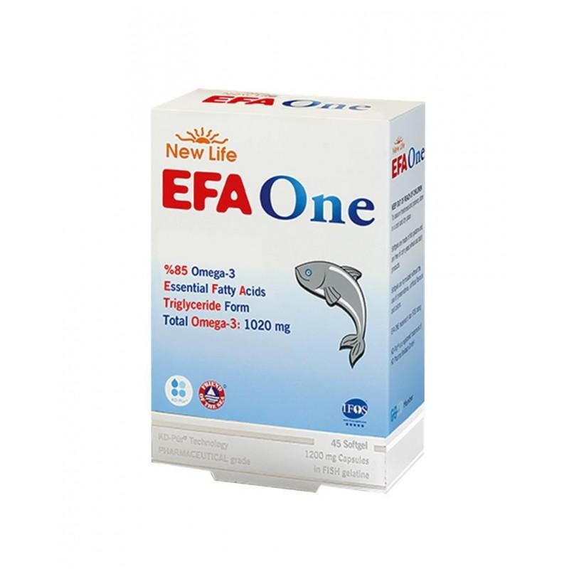 New_Life EFA One Omega 3 Balık Yağı 45 Kapsül
