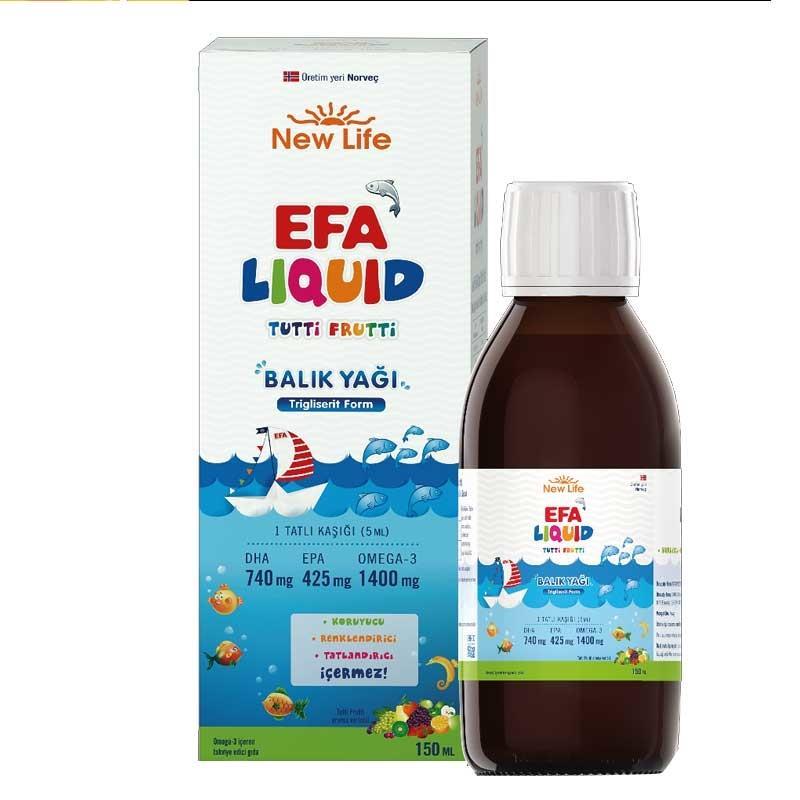 NewLife Efa Liquid Balık Yağı Tutti Frutti 150 ml
