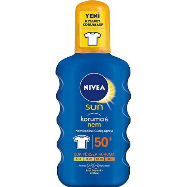 Nivea Sun Protect & Moisturizing Spf 50+ 200 ml Nemlendirici Güneş Spreyi