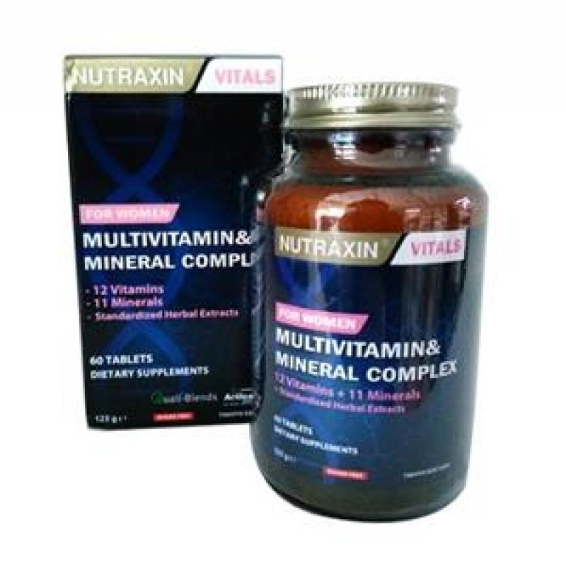 Nutraxin Multivitamin&Mineral Complex Kadın 60 Tablet