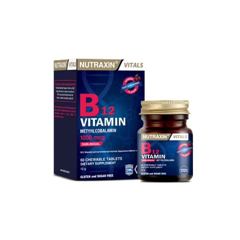Nutraxin Vitamin B12 1000 mcg 60 Tablet