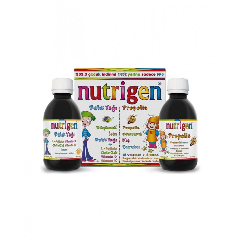 Nutrigen Balık Yağı 200 ml + Propolis Şurup 200 ml