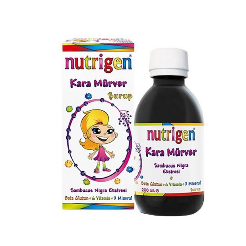 Nutrigen Elderberry Kara Mürver Beta Glukan Şurup 200 ml