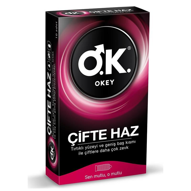 Okey Prezervatif Çifte Haz 10'lu