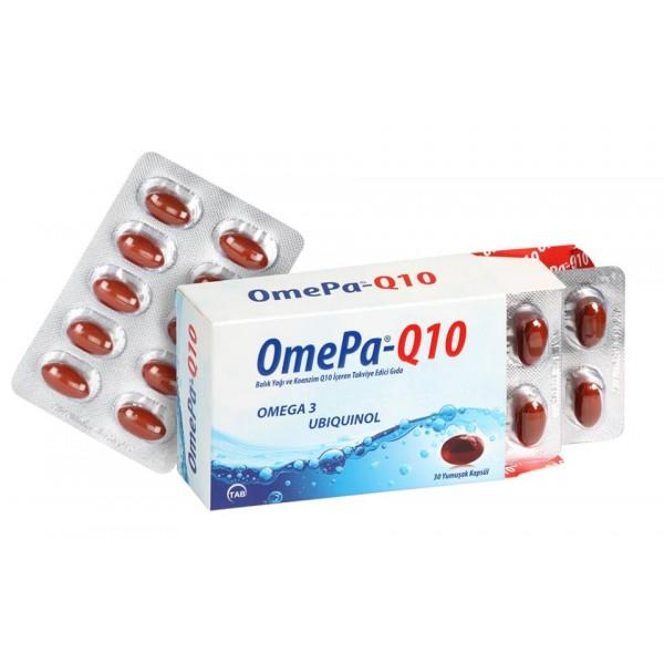 Omepa Q10 - Omega 3 ve Koenzim Q10 (Ubiquinol) - 30 Yumuşak Kapsül