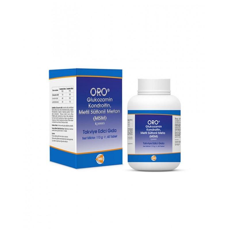 ORO Glukozamin Kondroitin Msm 60 Tablet