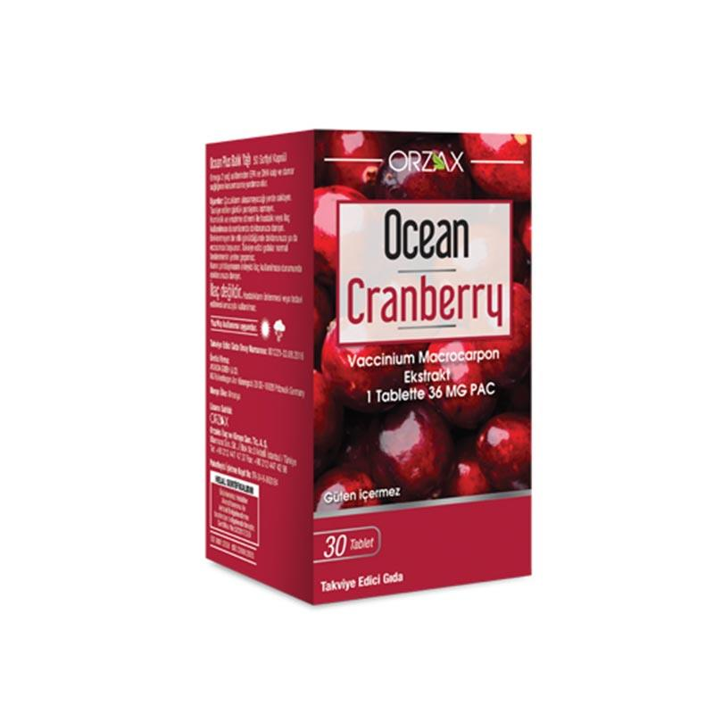 Orzax Ocean Cranberry (Turna Yemişi) 30 Tablet