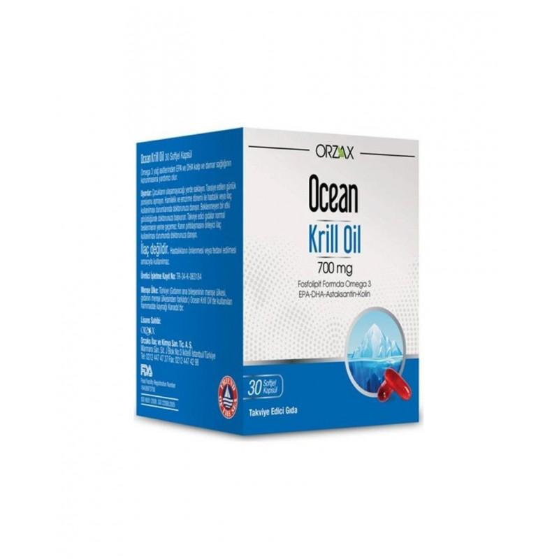 Orzax Ocean Krill Oil 30 Kapsül