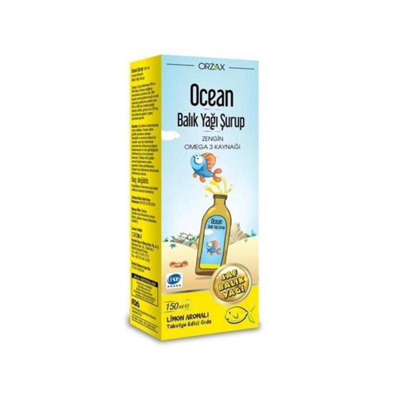 Orzax Ocean Limon Aromalı 150 ml Balık Yağı Şurubu