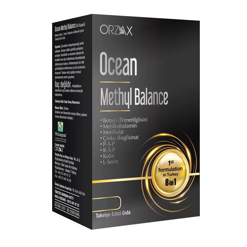 Orzax Ocean Methyl Balance 30 Kapsül