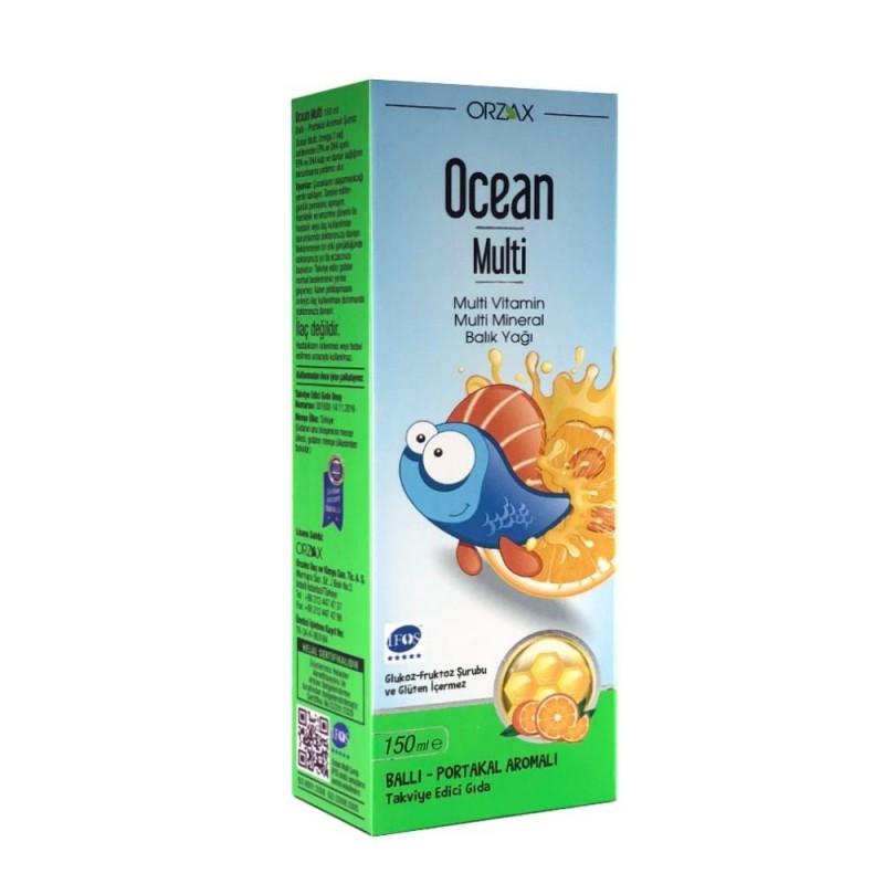 Orzax Ocean Multi Şurup 150 ml SKT: 06/2021