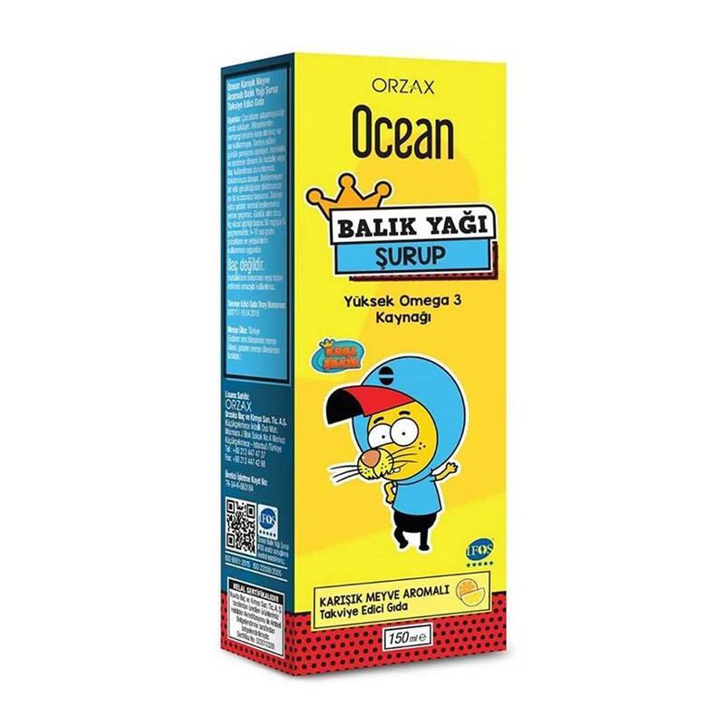 Orzax Ocean Omega3 Şurup 150 ml - Karışık Meyve Aromalı