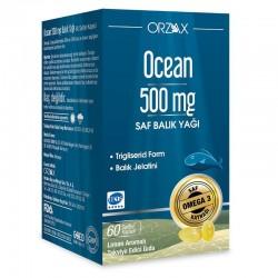 Orzax Ocean Saf Balık Yağı 500 mg 60 Kapsül