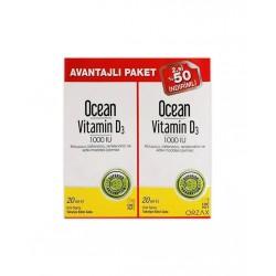 Orzax Ocean Vitamin D3 1000 IU I İkincisi %50 İndirimli