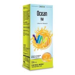 Orzax Ocean VM Vitamin Mineral Portakal Aromalı Şurup 150 ml