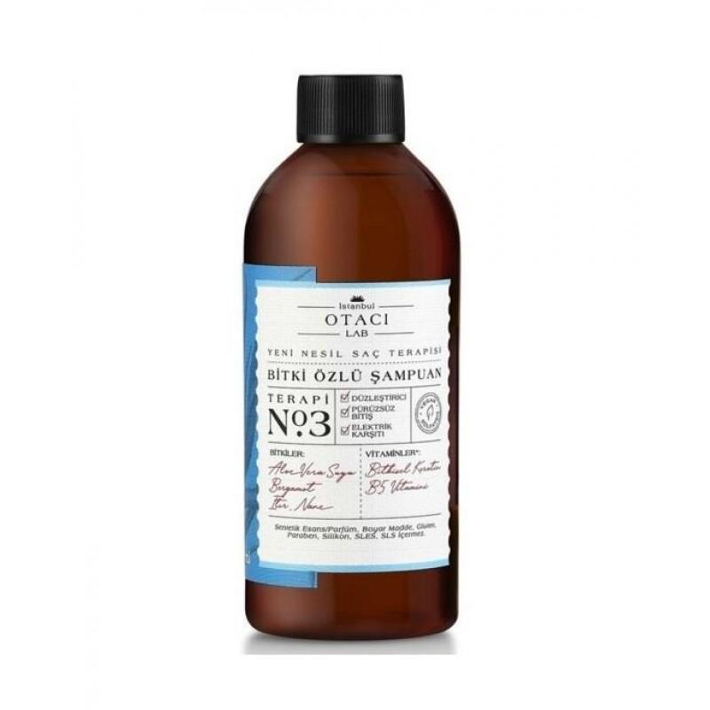 Otacı LAB No:3 Elektrik Karşıtı Düzleştirici Şampuan 250 ml