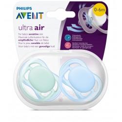Philips Avent SCF244/20 Ultra Air 2'li Emzik 0-6 ay Mavi