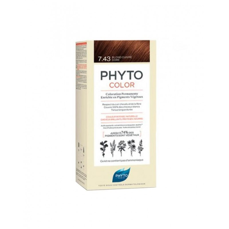Phyto PhytoColor 7.43 - Kumral Bakır Dore (Bitkisel Saç Boyası)