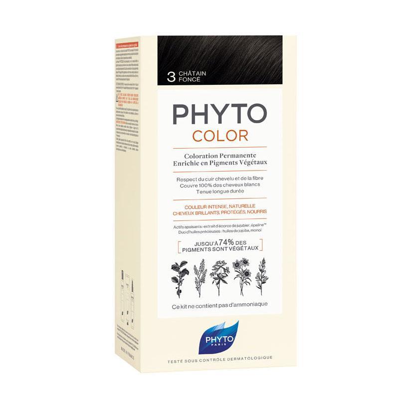 Phyto PhytoColor 3 - Koyu Kestane (Bitkisel Saç Boyası)