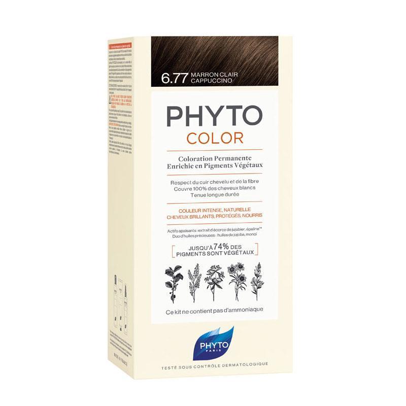 Phyto PhytoColor 6.77 - Cappuccino Kahve (Bitkisel Saç Boyası)