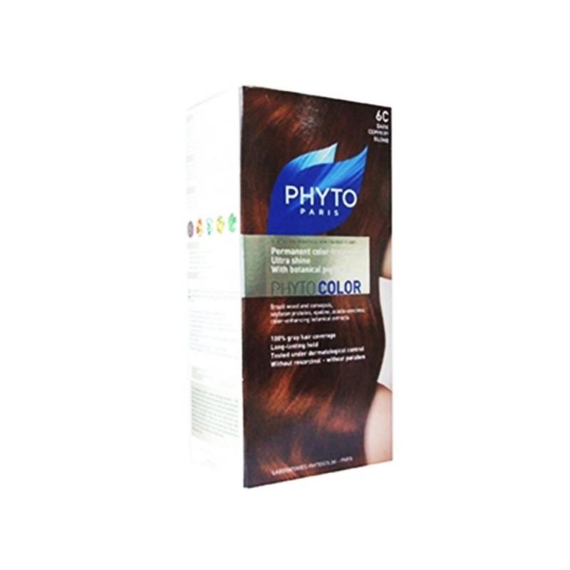 PhytoColor 6C - Koyu Sarı Bakır (Bitkisel Saç Boyası)