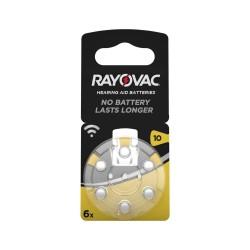 Rayovac 10 İşitme Cihaz Pili 6Lı