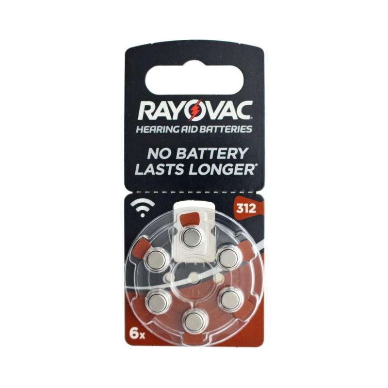 Rayovac 312 İşitme Cihaz Pili 6Lı