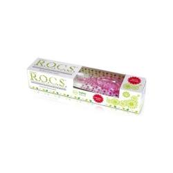Rocs 0-3 Yaş Set Diş Fırçası ve Diş Macunu (Pembe)