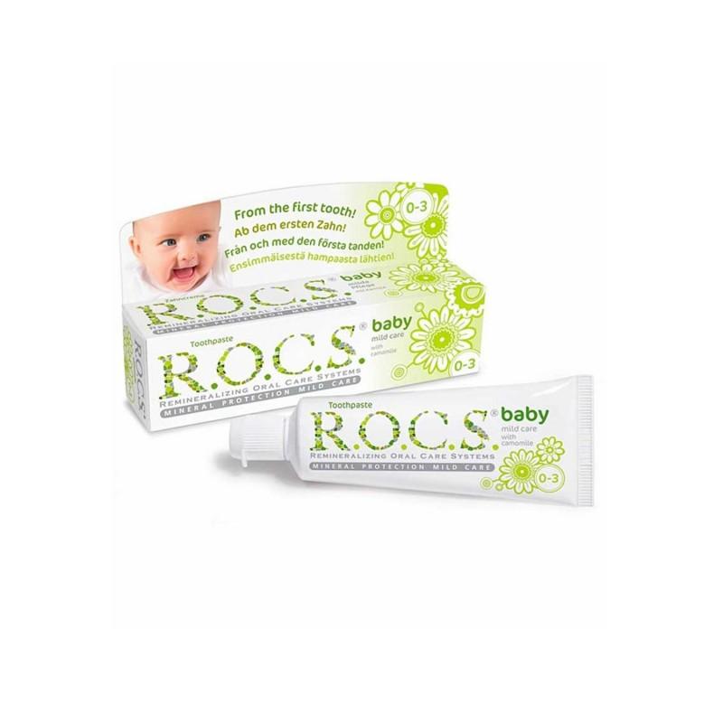 Rocs Baby Doğal Bakım Papatya Özlü Diş Macunu (0-3 yaş) 35 ml