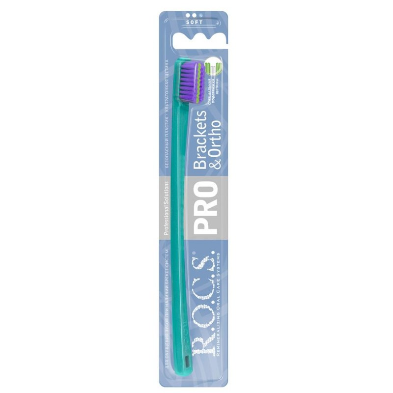 Rocs Brackets&Ortho Diş Fırçası (Yeşil)