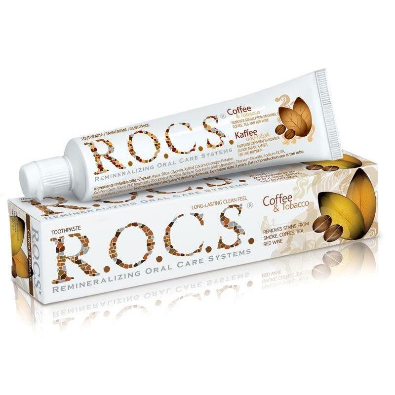 Rocs Coffee & Tobacco Lekelere Karşı Diş Macunu 60 ml
