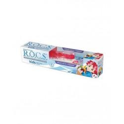 Rocs Kids 3 - 7 Yaş Diş Fırçası + Diş Macunu Meyve Külahı 35 ml / Kırmızı