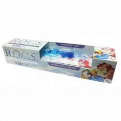 Rocs Kids 3 - 7 Yaş Diş Fırçası + Diş Macunu Meyve Külahı 35 ml / Mavi